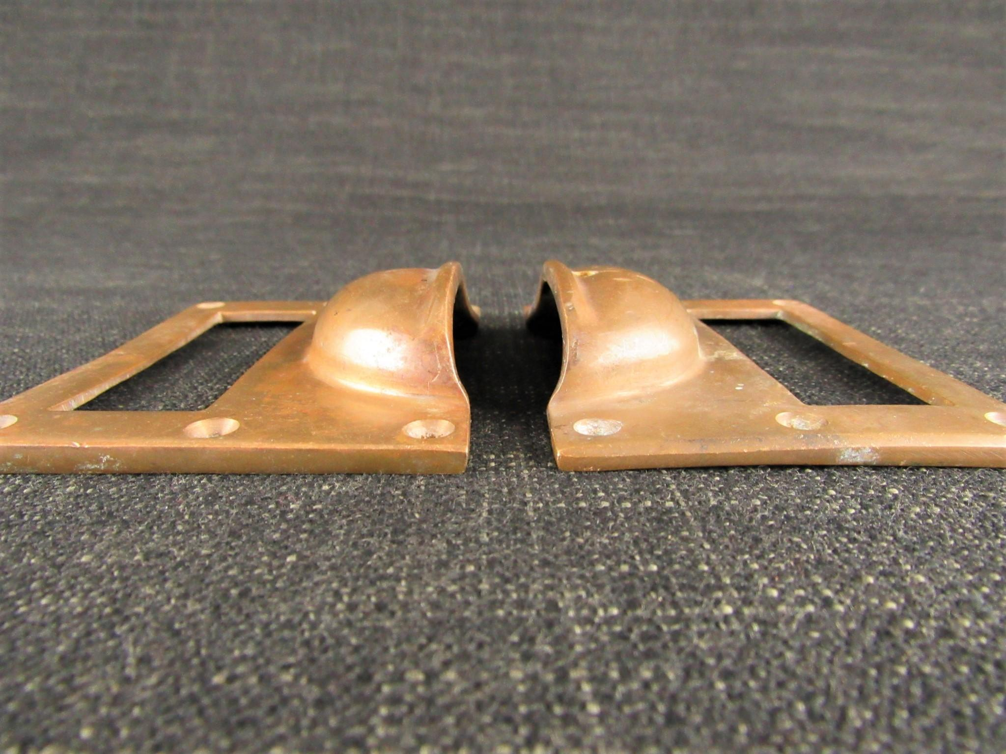 Pair of Vintage Bronze Card Frames & Pulls