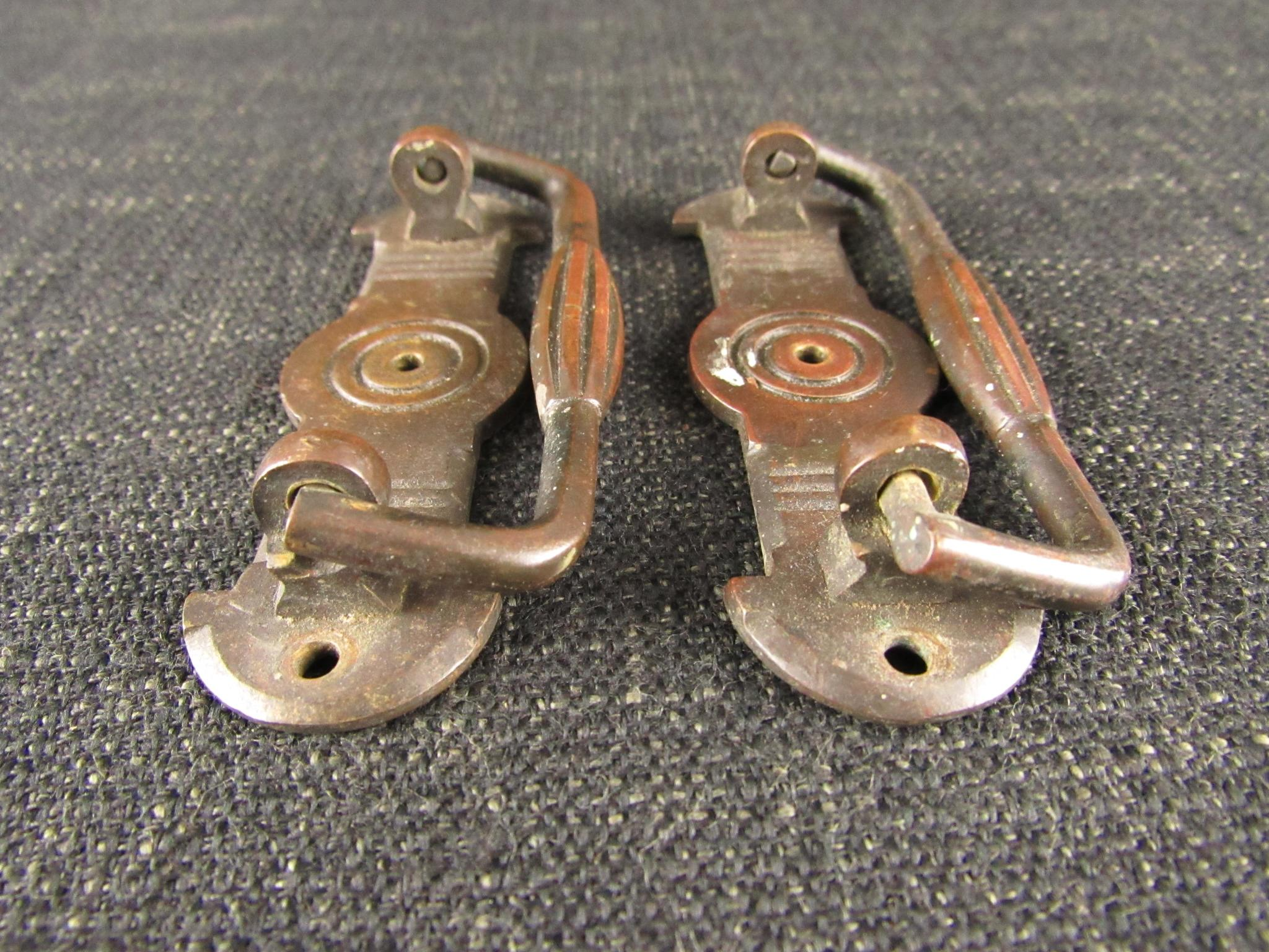 Vintage Pair of Brass Cabinet Handles