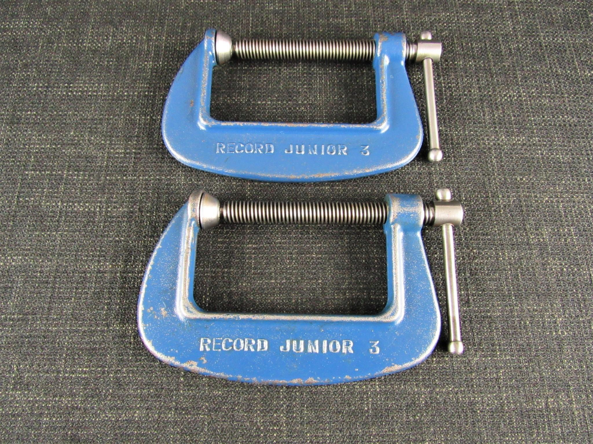 Pair of 3 inch RECORD Junior G Clamps