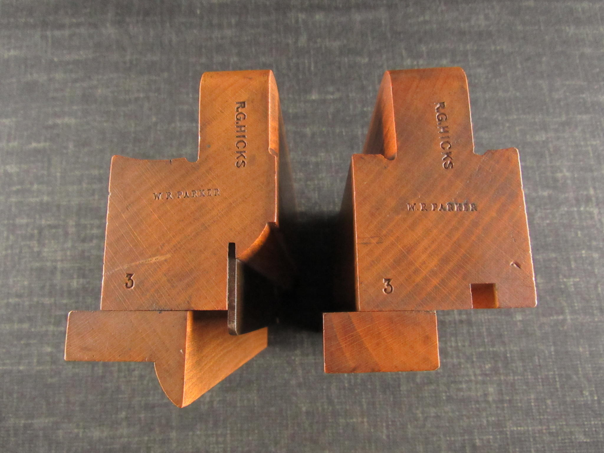 Rare Pair of Adjustable Tongue & Groove Match Planes by GRIFFITHS