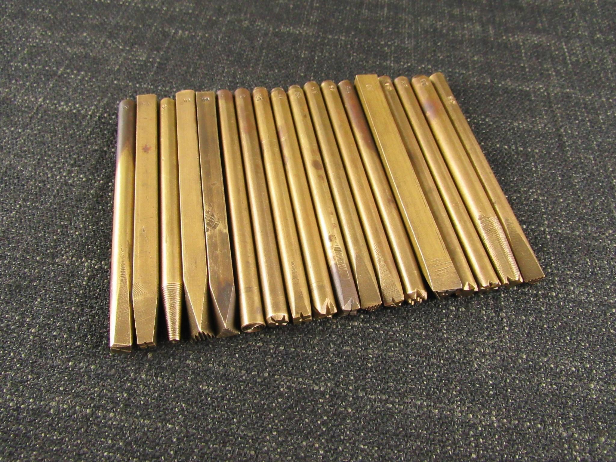 Vintage Brass Background Punches