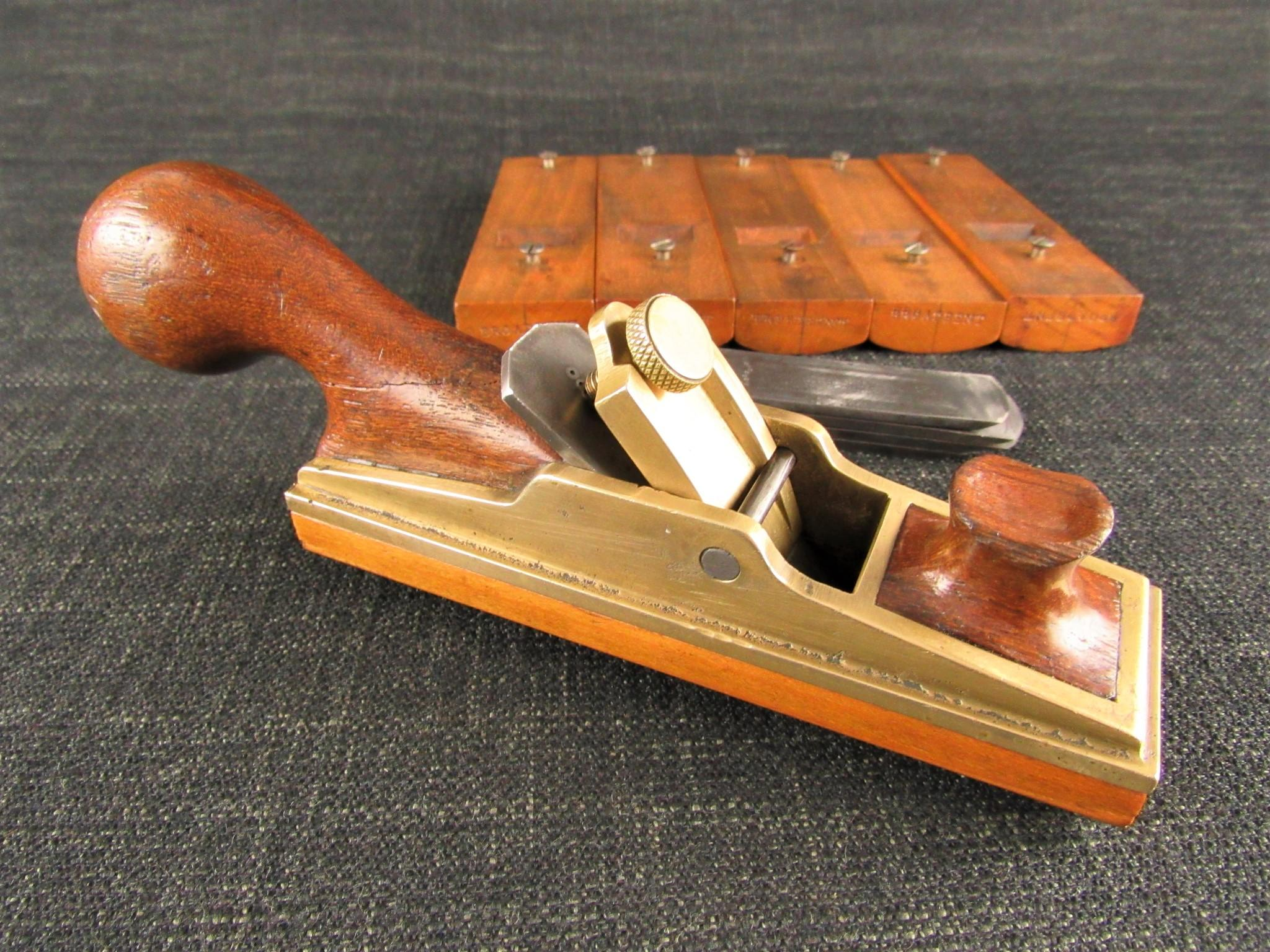 Brass Patternmakers Plane with 6 Interchangeable Soles