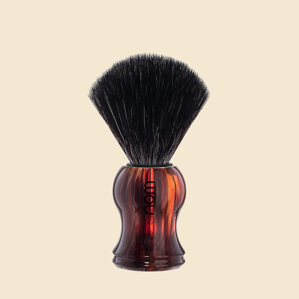 GUSTAV21HA nom GUSTAV, White, Black Fibre Shaving Brush