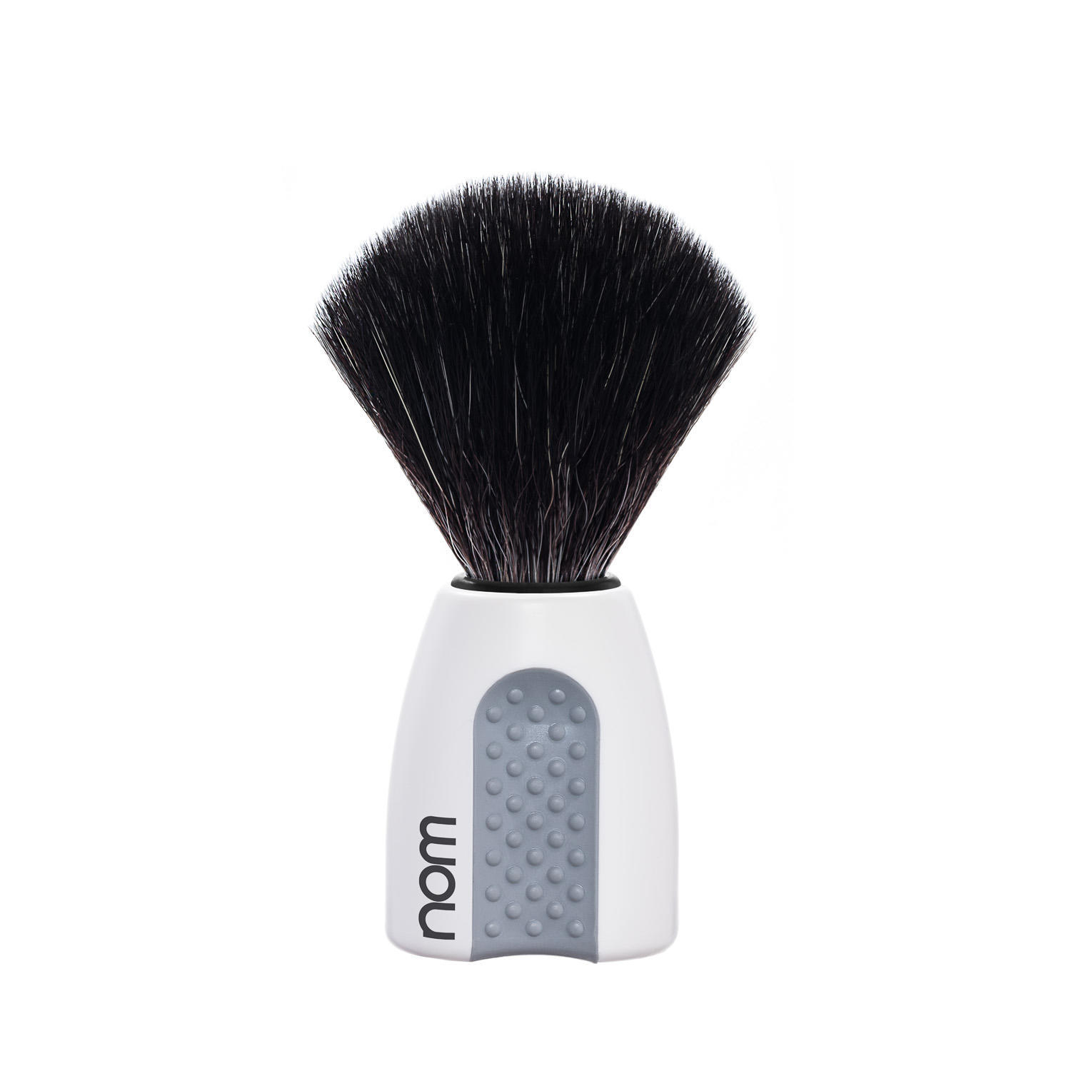 ERIK21WH NOM, ERIK White, Black Fibre Shaving Brush