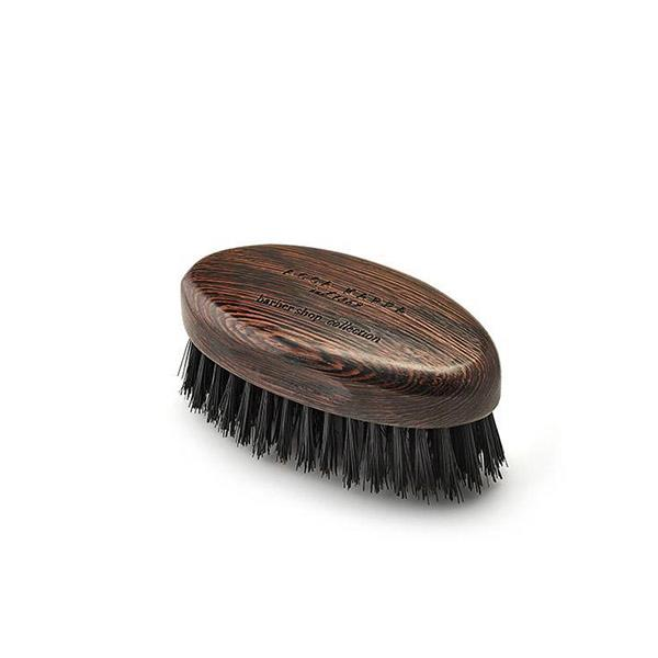 ACCA KAPPA Wengé Wood Beard Brush with Natural Black Bristles