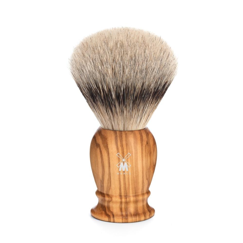 MÜHLE Classic Large Olive Wood Silvertip Badger Shaving Brush