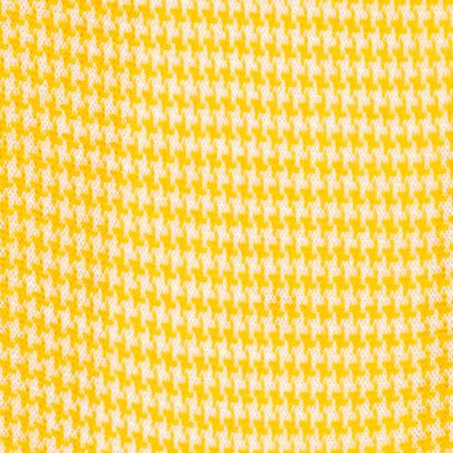 Bresciani Cotton socks in yellow colour in houndstooth pattern zoom