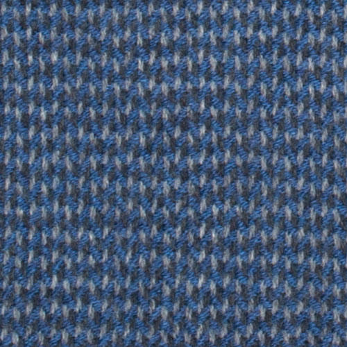 Blue Twill Woven 100% Virgin Wool Scarf Large View