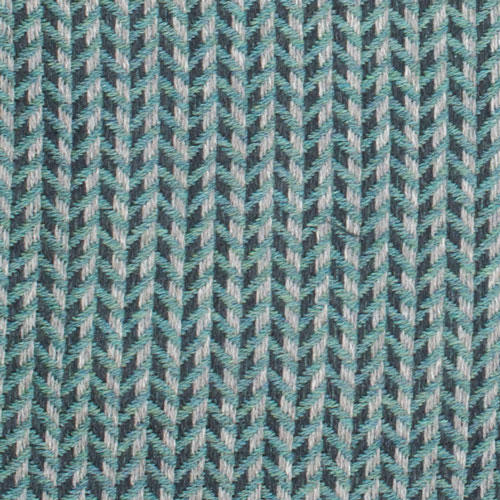 Green cross weave herringbone pattern scarf made with 100% virgin wool. Made in Italy. Large view.