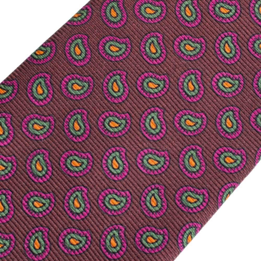 Silk tie antique pink patterned Nicky mofos