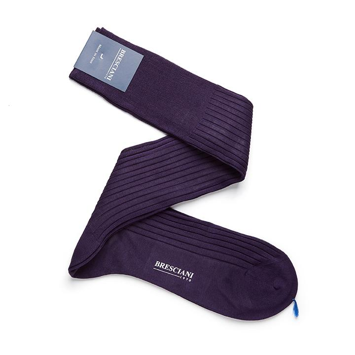 Bresciani-over-the-calf-cotton-socks-in-Purple 1
