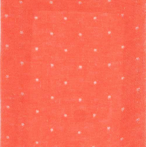 Bresciani Cotton socks in orange colour in microdot pattern zoom
