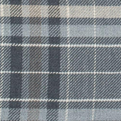 Tartan Wool Scarf in Grey colour. Made in Italy. Large view