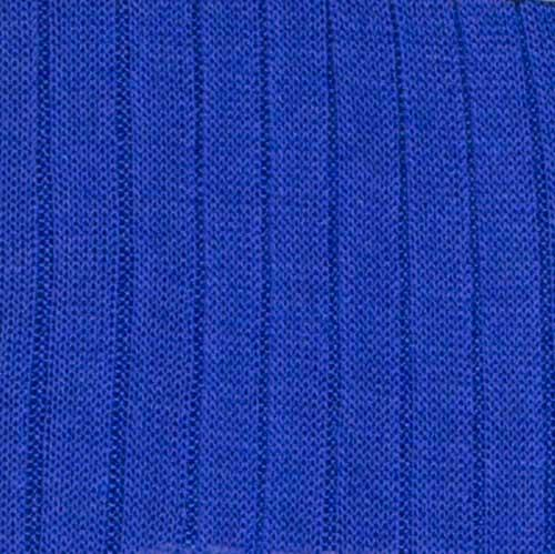Bresciani cotton socks in blue colour. Large view