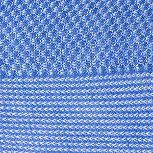 Bresciani cotton socks in blue houndstooth pattern. Large view