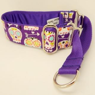 sugar skulls dog collar, greyhounds, whippets