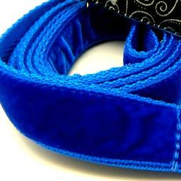 soft velvet dog collar, red, blue, green, orange, pink,