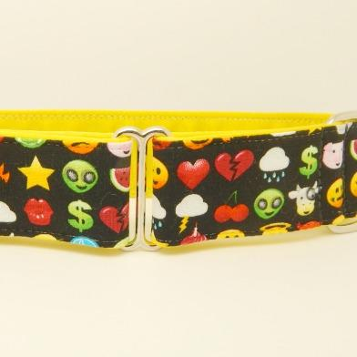 Emoji collar, black, yellow, red