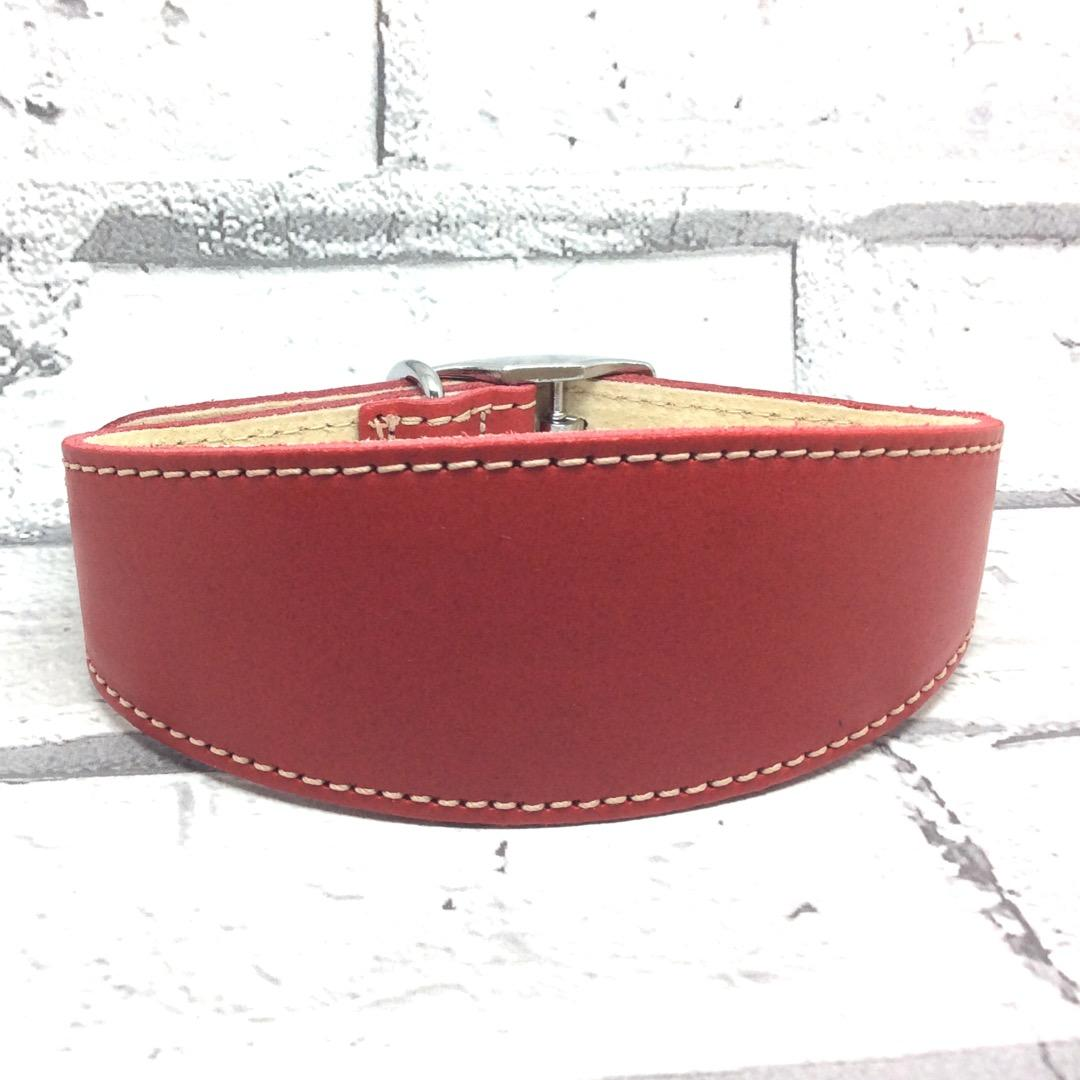 Red leather whippet collar