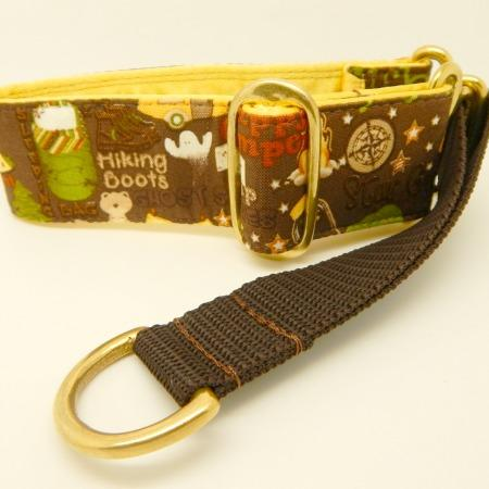 Gone Camping Collar, brown, green,