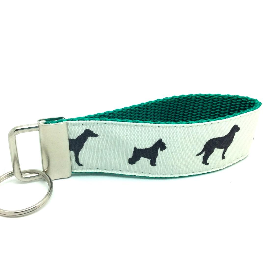 Dog key fob green