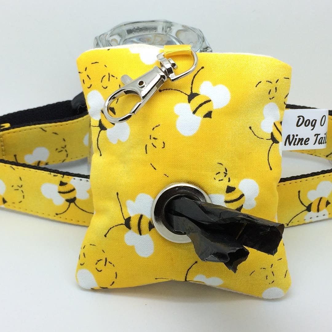 fabric poop bag to match your dog collar