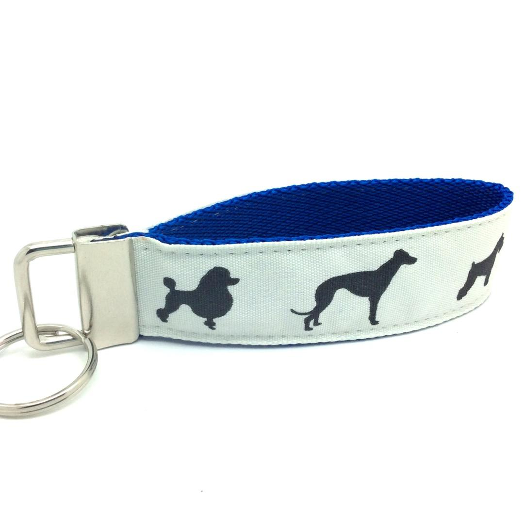 Dog key fob blue