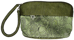 Chinese silk make-up cases and toiletry bags,