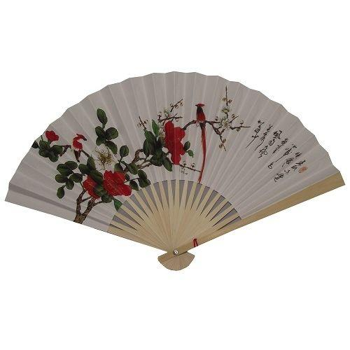 Hand held Chinese folding paper fans,