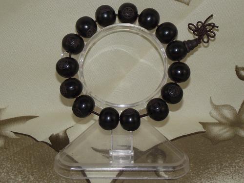 Buddha Bracelets With Engraved Ebony Beads