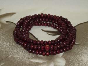 Chinese style mala bracelets with rosewood effect beads,