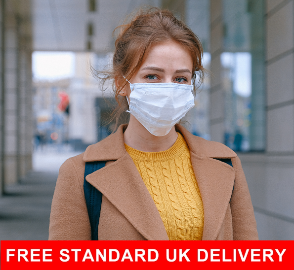 Packs of 50 surgical face masks with free UK delivery,