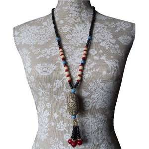 Chinese fashion necklace with a lotus root charm,
