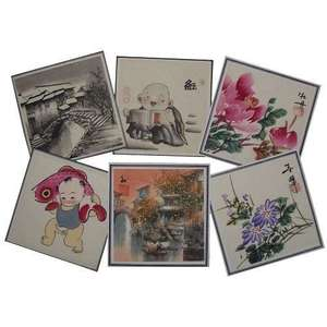 Assorted small Chinese watercolour paintings,
