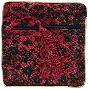 Chinese coin purse with oriental floral patterns,