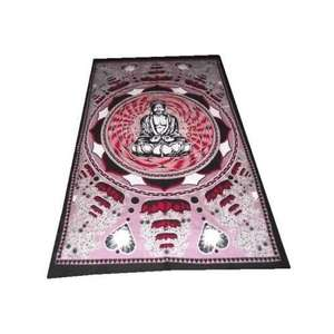Large Buddha wall hanging and oriental throws,