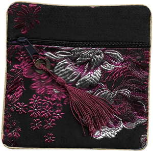 Chinese purse decorated with oriental floral patterns,