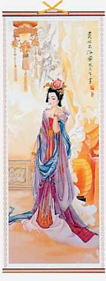 Chinese hanging wall scroll of Gui Fei,