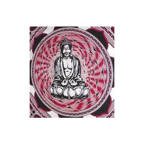 Large Cotton wall hangings with Buddha on a Lotus flower,