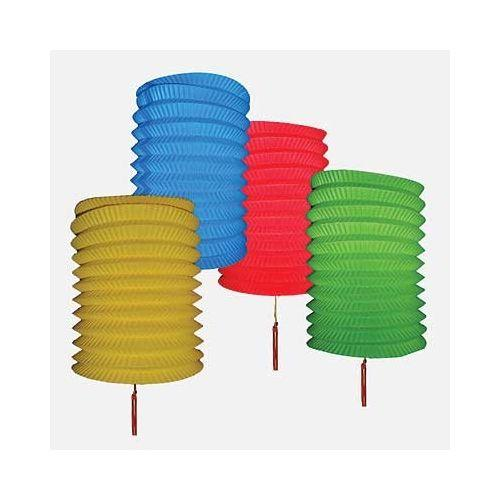 Set of four colourful Chinese paper lanterns,
