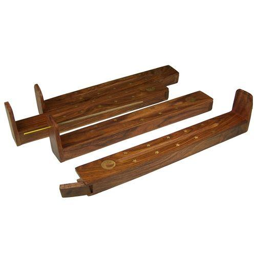 Wooden Incense ash catchers with a storage compartment,