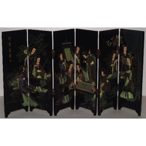Chinese tabletop screen with the four skills,