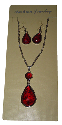 Tree resin effect fashion jewellery sets,