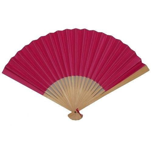 Dark pink Chinese hand held folding fans,