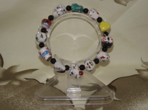 Chinese zodiac charm bracelets with agate spacers,