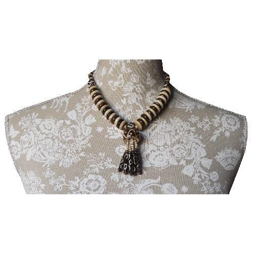 Hand made Chinese necklace made from ox-bone,