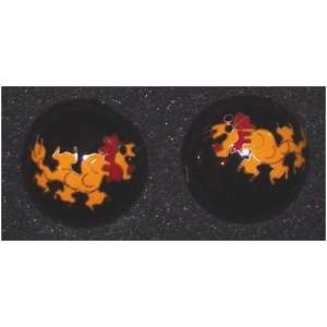 Chinese health balls decorated with oriental patterns,