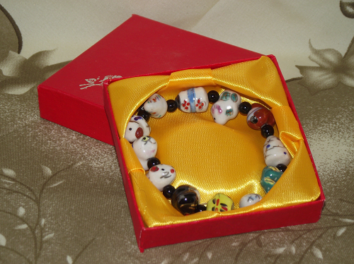 Chinese Charm bracelets with animals of the zodiac,