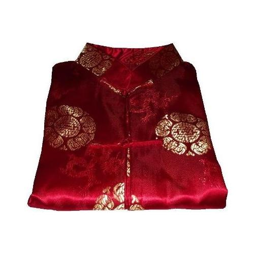 Unisex Chinese jackets with gold oriental symbols,