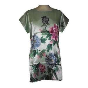 Chinese style nightgown with colourful oriental flowers,